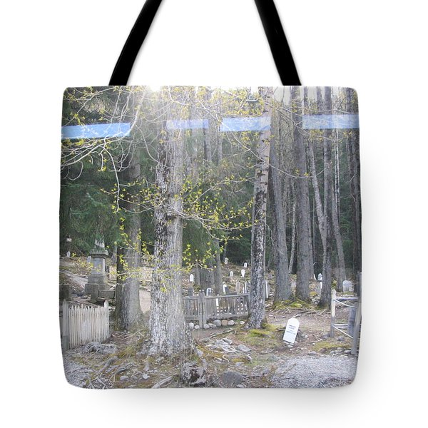 Tote Bag featuring the photograph 300yr Cemetery by Brian Williamson