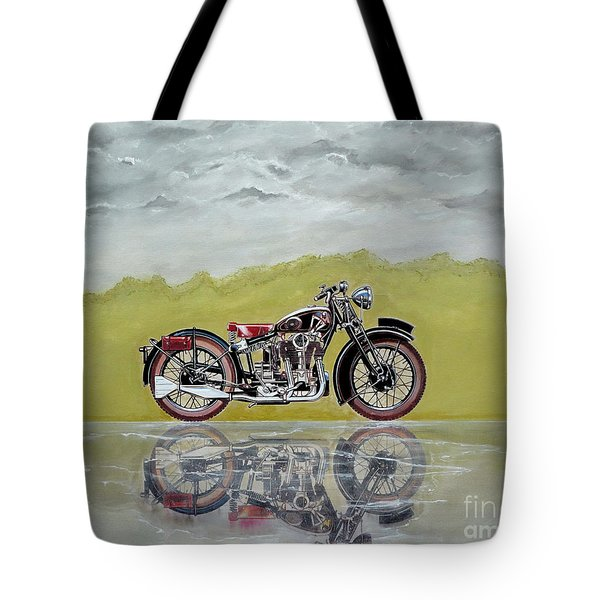 31 Matchless Silverhawk Tote Bag by John Lyes
