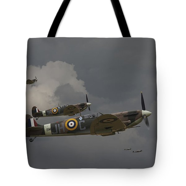 317 Polish Squadron Tote Bag by Pat Speirs
