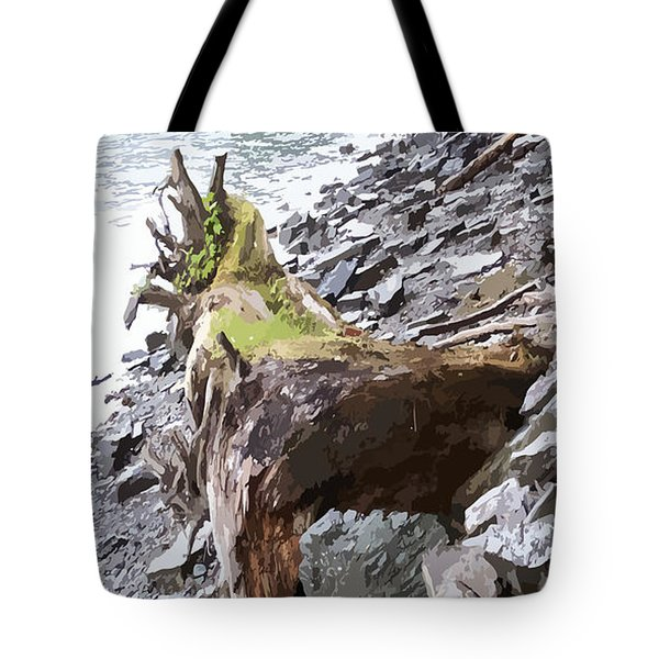 3206 Alaskan Rain Forest Shore Line Tote Bag