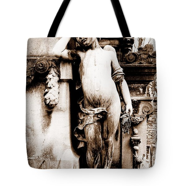 Pere-lachais Cemetery In Paris France Tote Bag by Richard Rosenshein