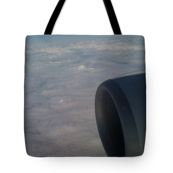 Tote Bag featuring the photograph 33000 Feet by Mark Alan Perry