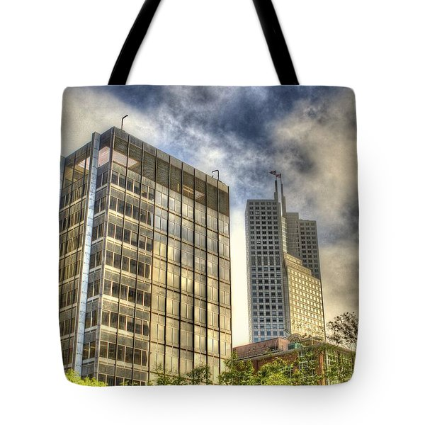 345 California Center Two Flags Tote Bag