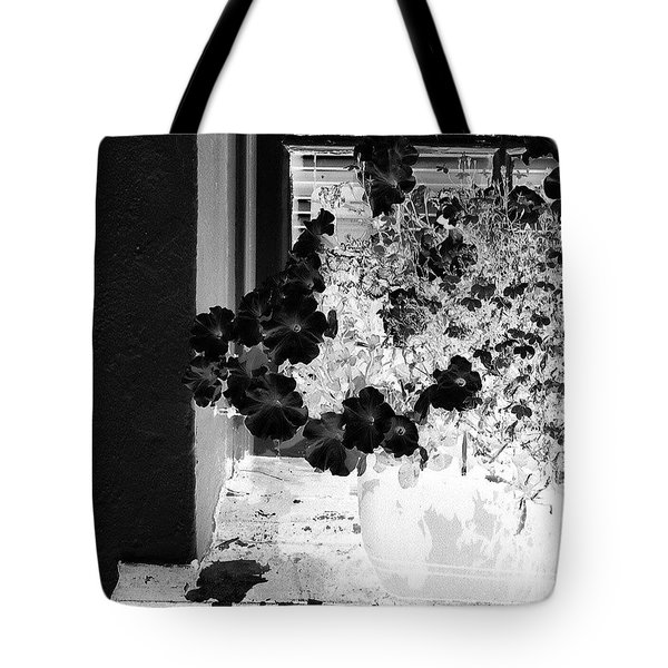 Flowers In Negative Tote Bag