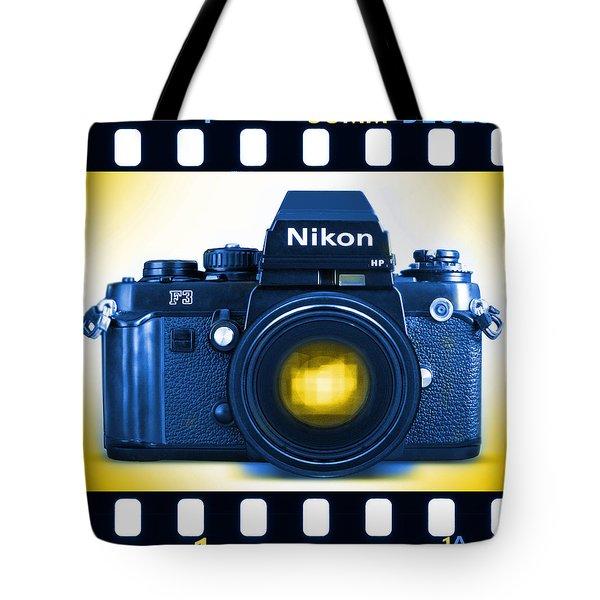 35mm Blues Nikon F-3hp Tote Bag by Mike McGlothlen