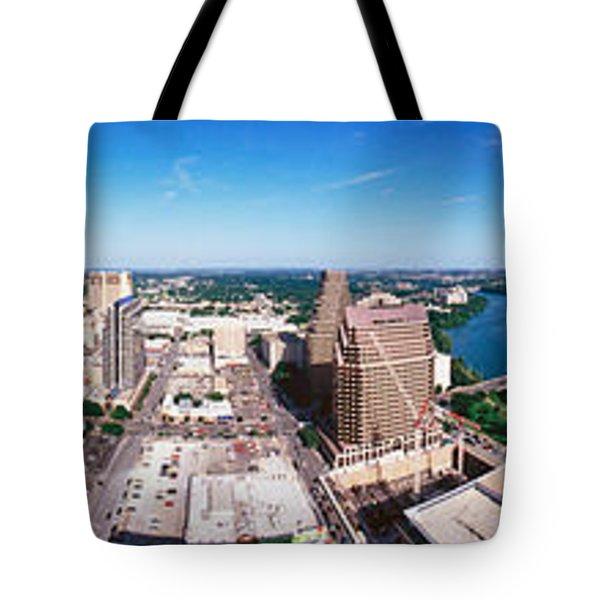 360 Degree View Of A City, Austin Tote Bag