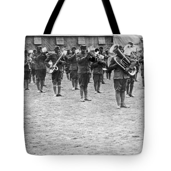 369th Infantry Regiment Band Tote Bag by Underwood Archives