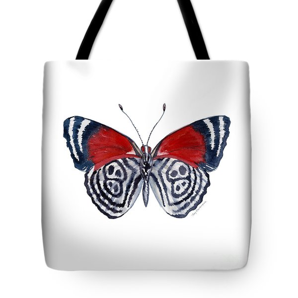 37 Diathria Clymena Butterfly Tote Bag
