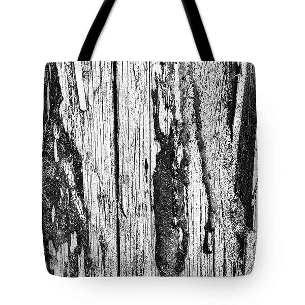 Wooden Post B 'n' W 2 Tote Bag by Jason Michael Roust
