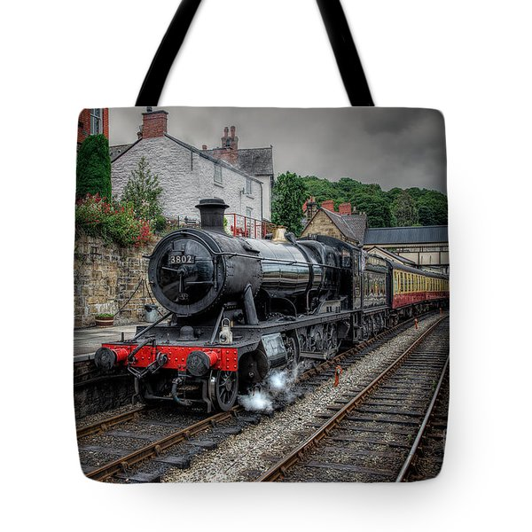 3802 At Llangollen Station Tote Bag by Adrian Evans