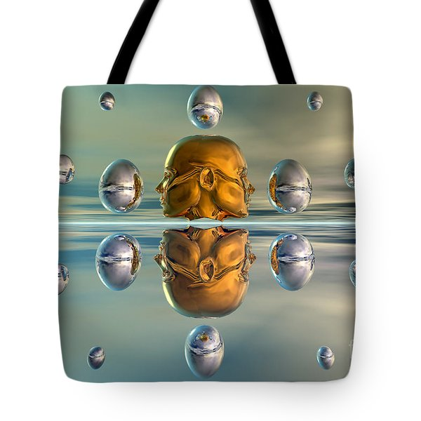3d Concept Showing The Advancement Tote Bag by Mark Stevenson