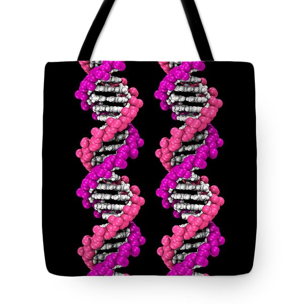 3d Dna Molecule Tote Bag by Scott Camazine