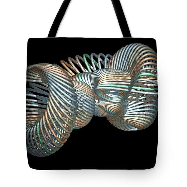3d Fractal Klein Bottle Tote Bag by Faye Symons