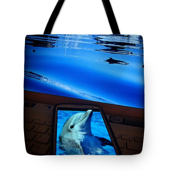 3d Phone... Tote Bag