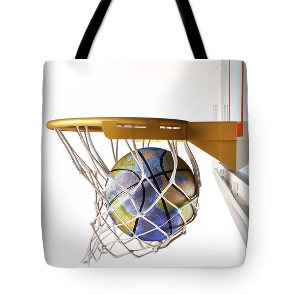 3d Rendering Of Planet Earth Falling Tote Bag by Leonello Calvetti