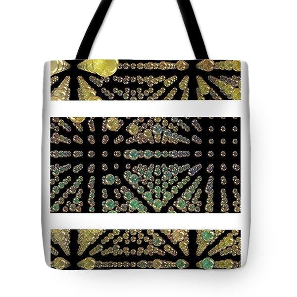 3d Spheres Tote Bag by Susan Leggett
