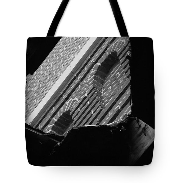 Tote Bag featuring the photograph 3rd Little Pig Bw by Elizabeth Sullivan
