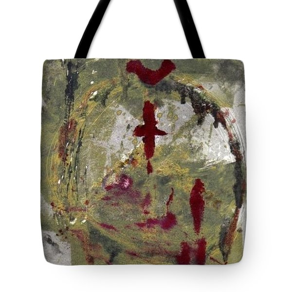 Tote Bag featuring the painting 3rd Peace by Lesley Fletcher