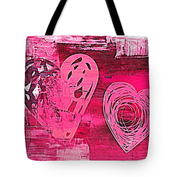 Tote Bag featuring the digital art 3vl Pink by Mindy Bench