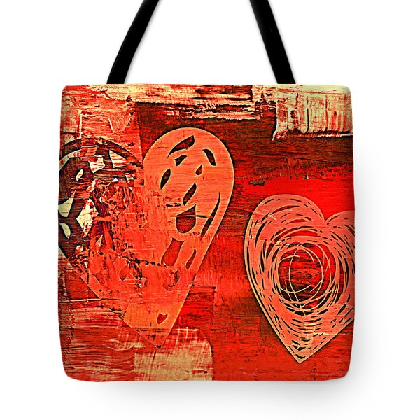 3vl Red Valentine Tote Bag