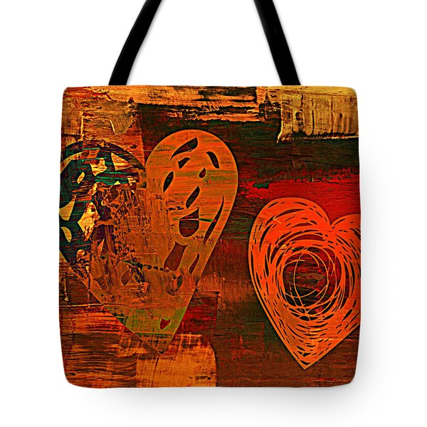 Tote Bag featuring the digital art 3vl Valentine by Mindy Bench