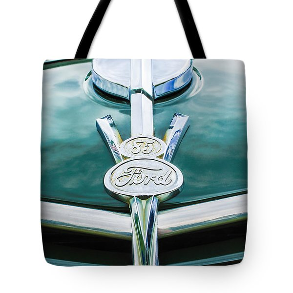1937 Ford Pickup Truck V8 Emblem Tote Bag