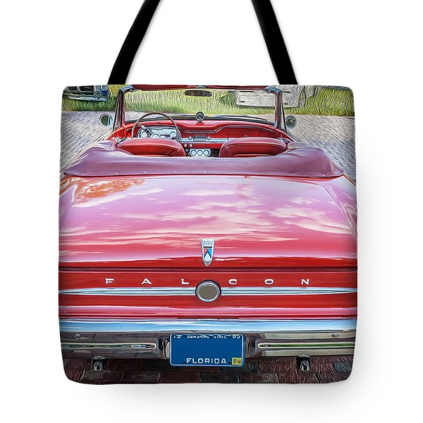 1963 Ford Falcon Sprint Convertible  Tote Bag