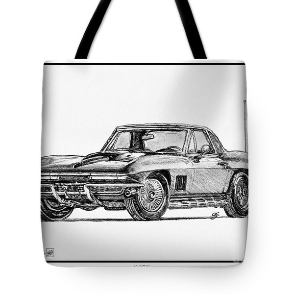 1967 Corvette Tote Bag