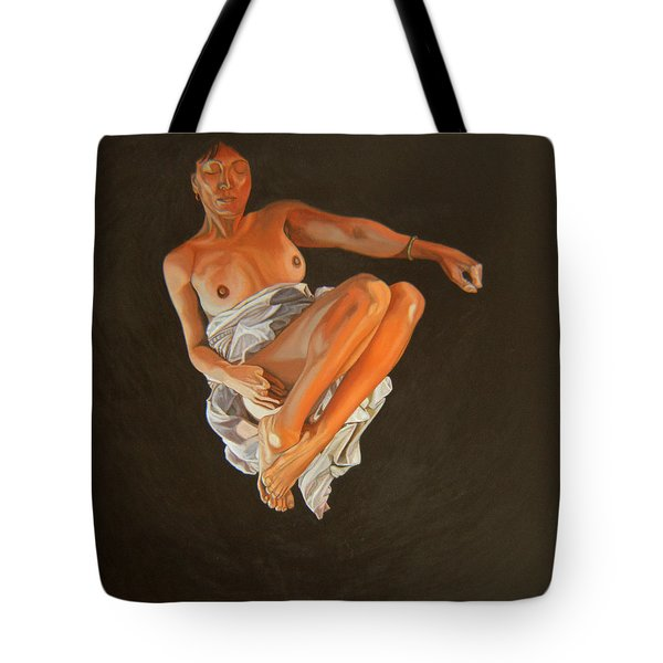 Tote Bag featuring the painting 4 30 Am by Thu Nguyen