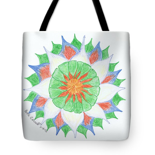 Tote Bag featuring the drawing 4 by Beth  Cornell