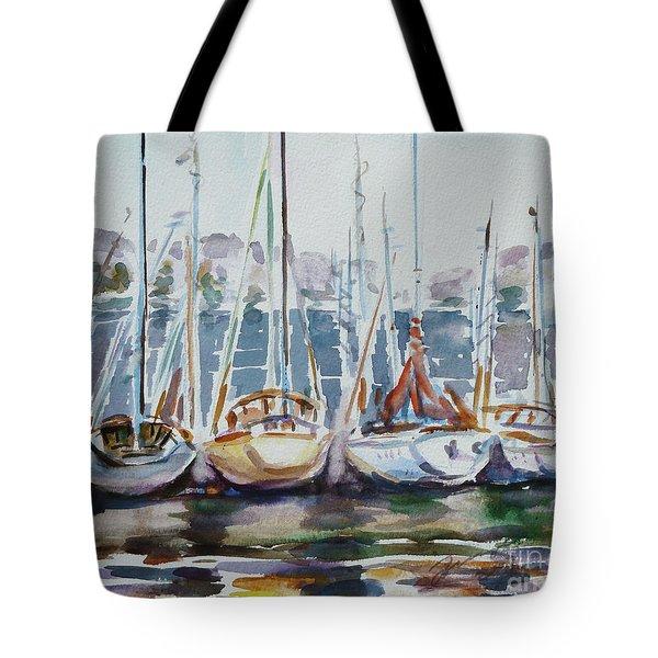 4 Boats Tote Bag