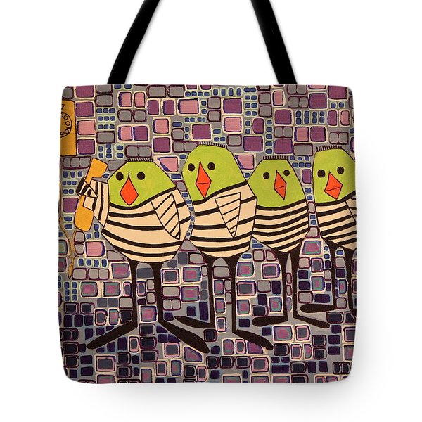 4 Calling Birds Tote Bag