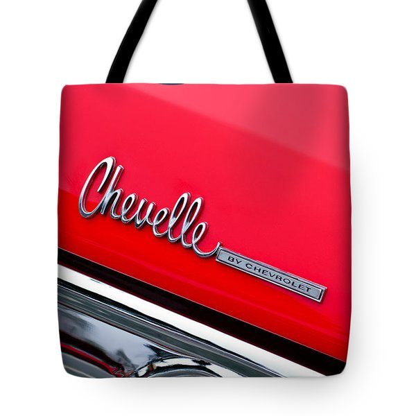Chevrolet Chevelle Ss Taillight Emblem Tote Bag by Jill Reger