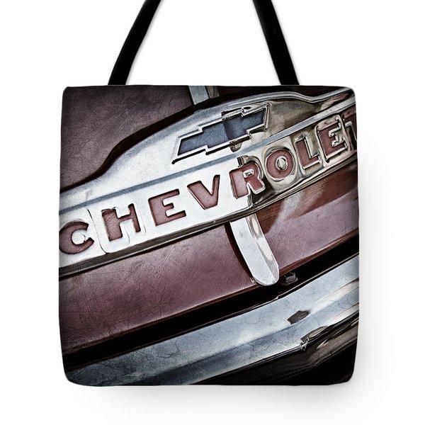 Chevrolet Pickup Truck Grille Emblem Tote Bag