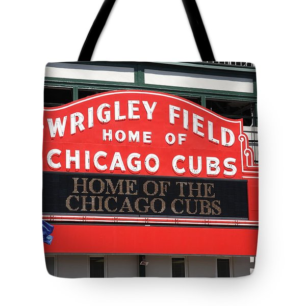 Chicago Cubs - Wrigley Field Tote Bag by Frank Romeo