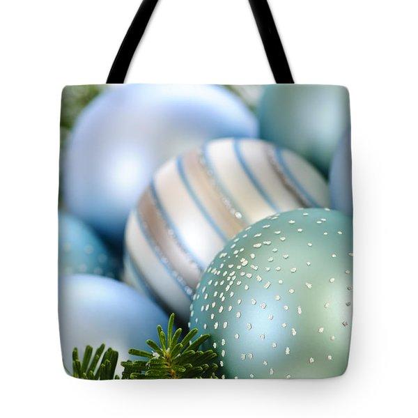 Christmas Ornaments Tote Bag by Elena Elisseeva