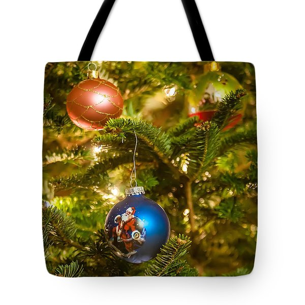 Tote Bag featuring the photograph Christmas Tree Ornaments by Alex Grichenko