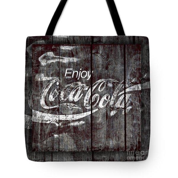 Coca Cola Sign Tote Bag by John Stephens