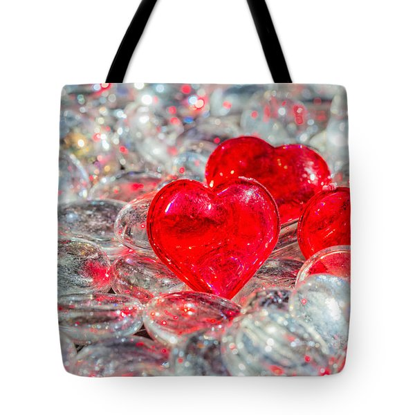 Crystal Heart Tote Bag