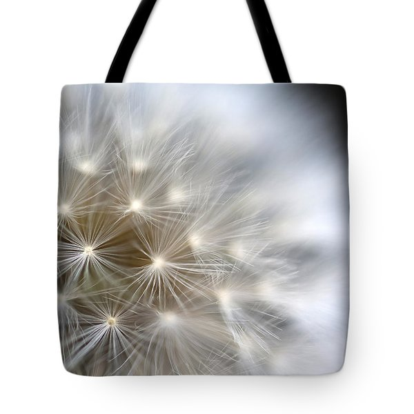 Dandelion Backlit Close Up Tote Bag
