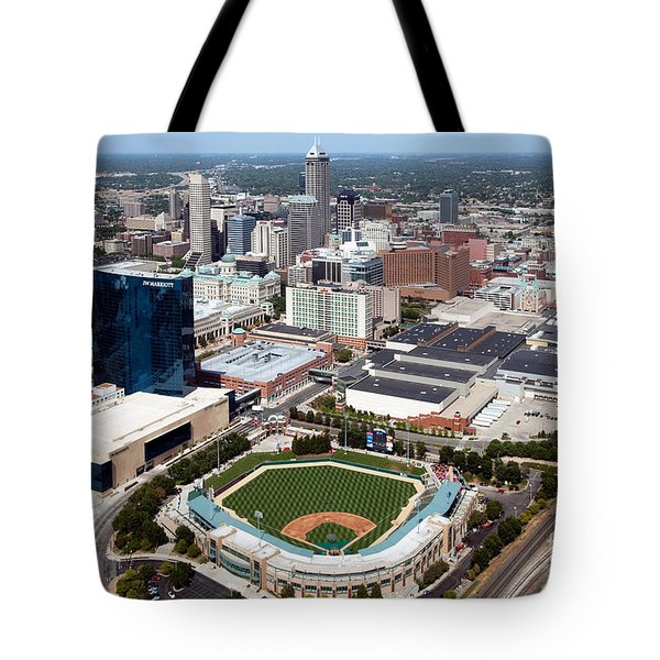 Downtown Indianpolis Indiana  Tote Bag by Bill Cobb