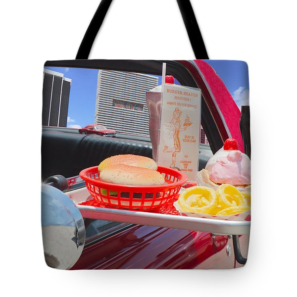 Drive In Tote Bag by Rudy Umans