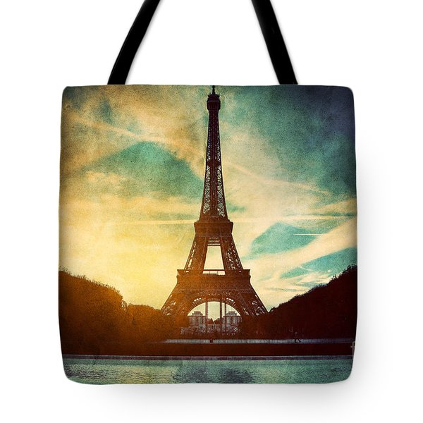 eiffel tower in paris fance in retro style photograph by michal bednarek. Black Bedroom Furniture Sets. Home Design Ideas