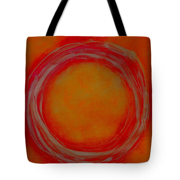 Tote Bag featuring the painting Enso by Katie Black