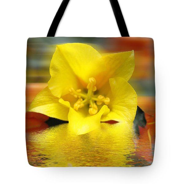 Floral Fractals And Floods Digital Art Tote Bag