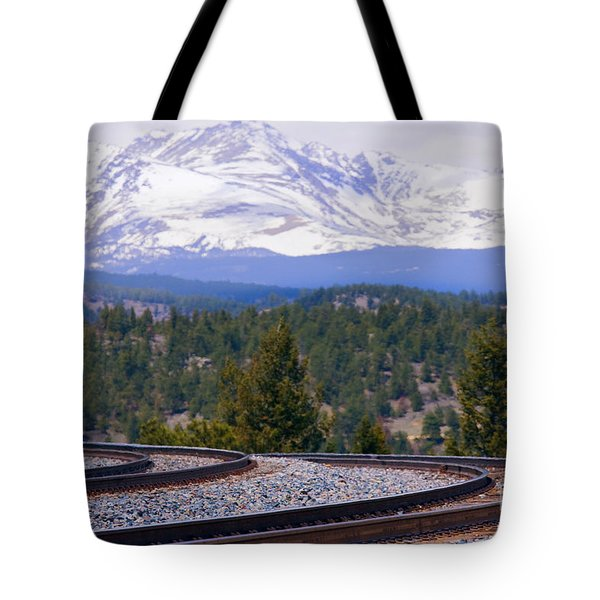 Freight On The Divide Tote Bag