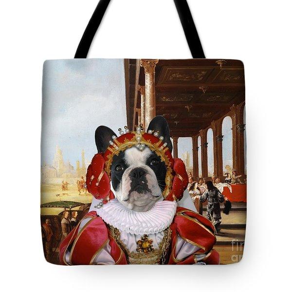 French Bulldog Art Canvas Print Tote Bag