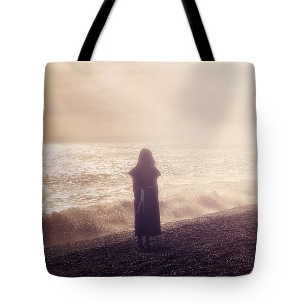 Girl On Beach Tote Bag by Joana Kruse