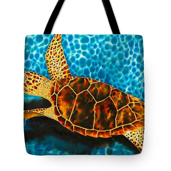 Green Sea Turtle Tote Bag by Daniel Jean-Baptiste