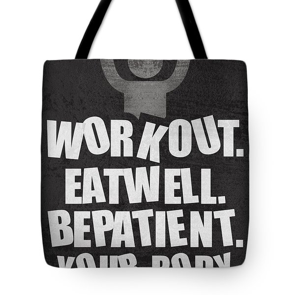 Gym Motivational Quotes Poster Tote Bag